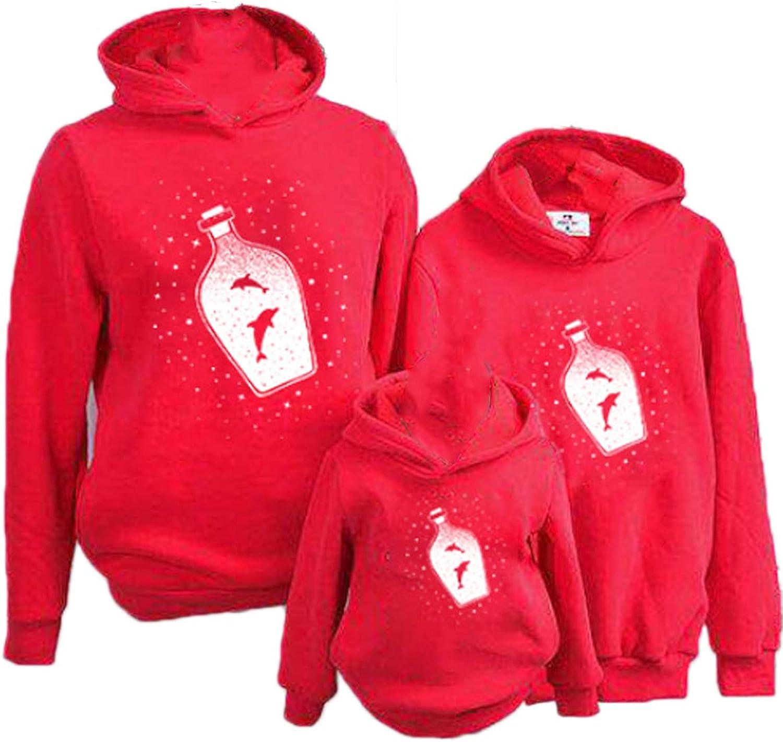 Family Matching Christmas Pullover Hoodie, Elk Printed Hooded Sweatshirt Tops 1Pc