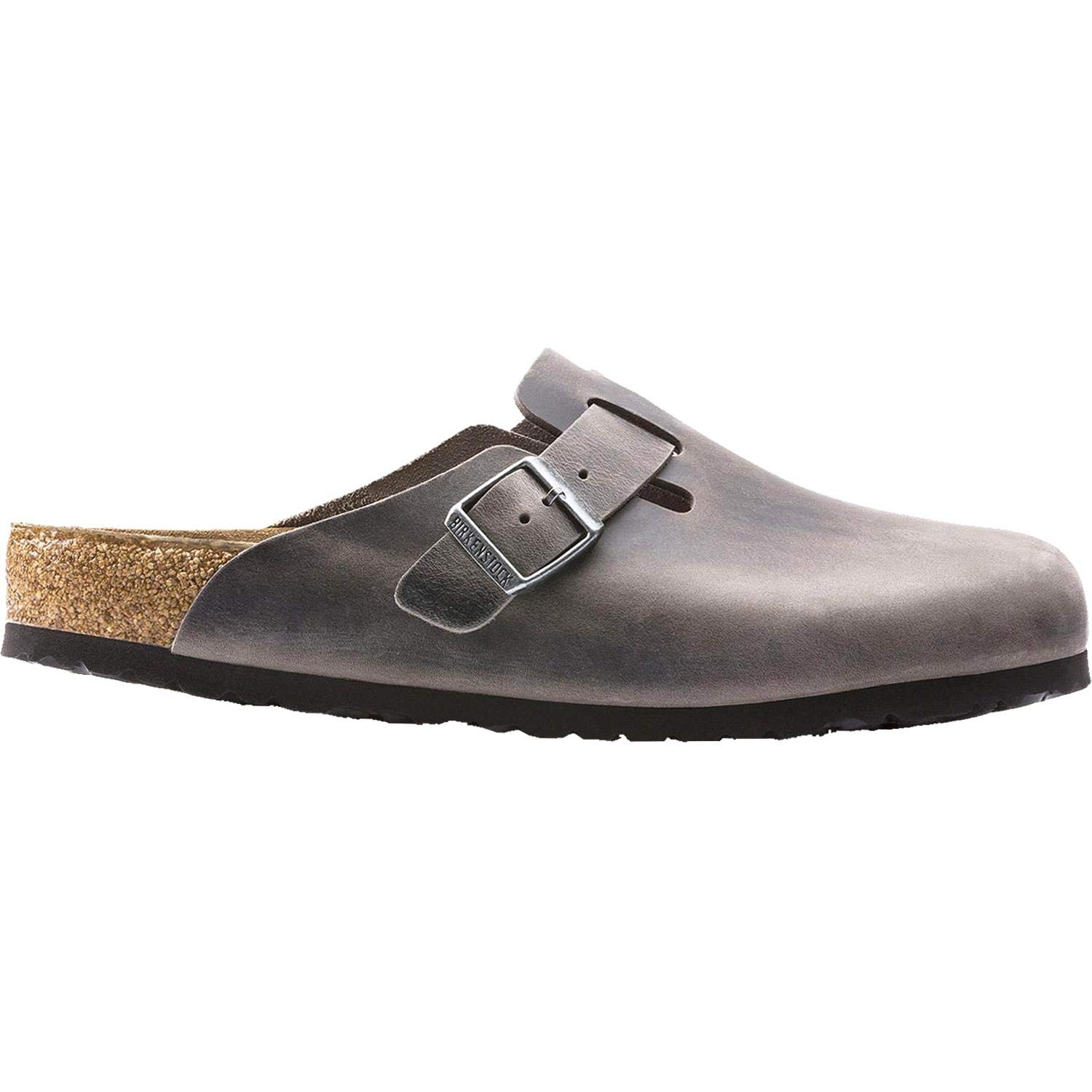 Birkenstock Unisex Boston Soft Footbed Iron Oiled Leather Clogs 41 R (US Women's 10-10.5)