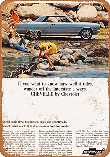 Wall-Color 9 x 12 Metal Sign - 1965 Chevrolet Malibu Sport Coupe - Vintage -