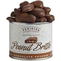 FERIDES Chocolate Covered Peanut Brittle 9oz Tin