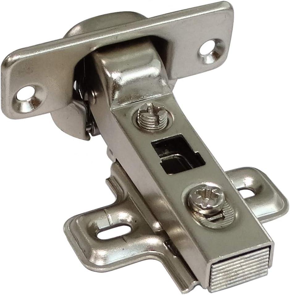 AERZETIX 4 charni/ères invisibles 110/° avec clip pour porte de meuble en semi applique demi recouvrement C41041