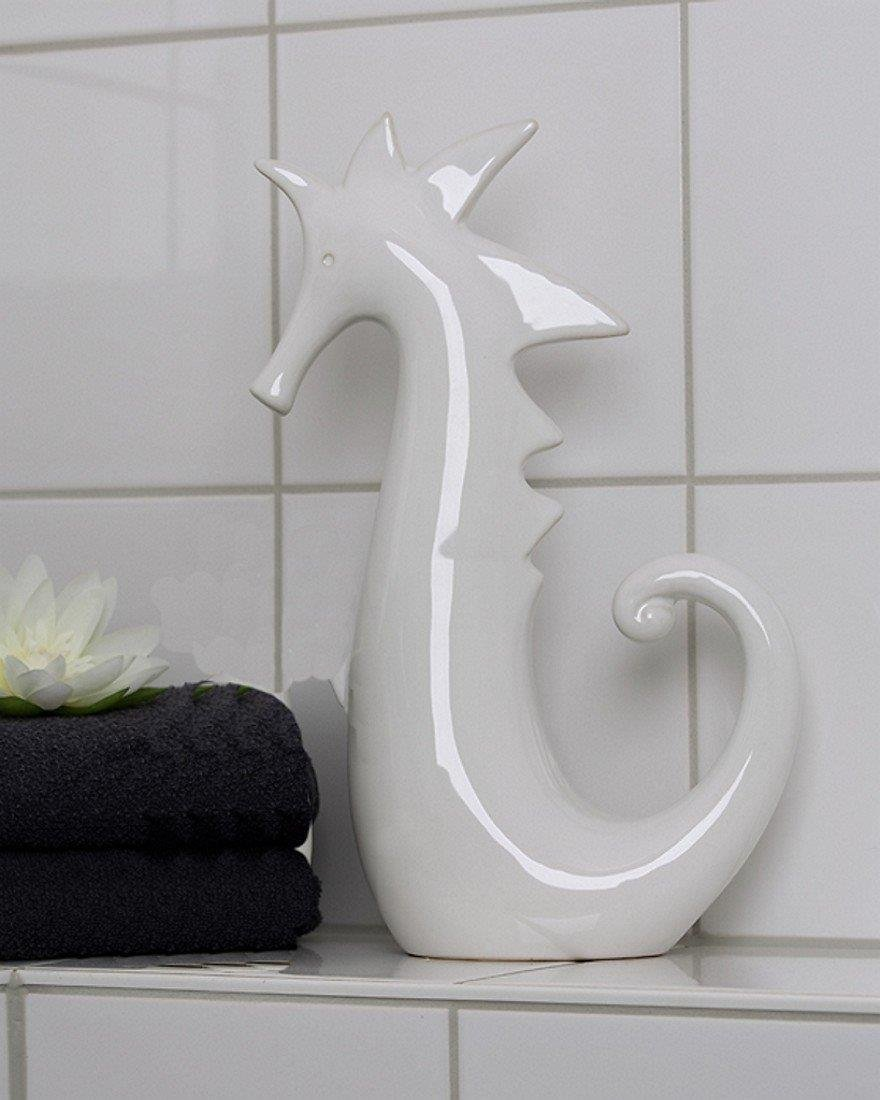 Badezimmer keramik  Amazon.de: Casablanca Figur Seepferdchen Keramik weiß 18cm