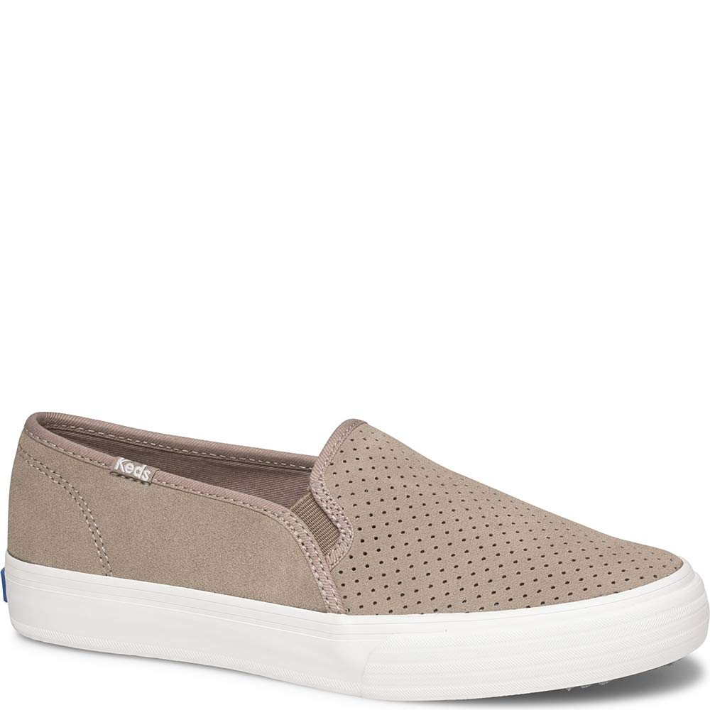 Keds Women's Double Decker Perf Suede Sneaker, Taupe, 9.5 M US