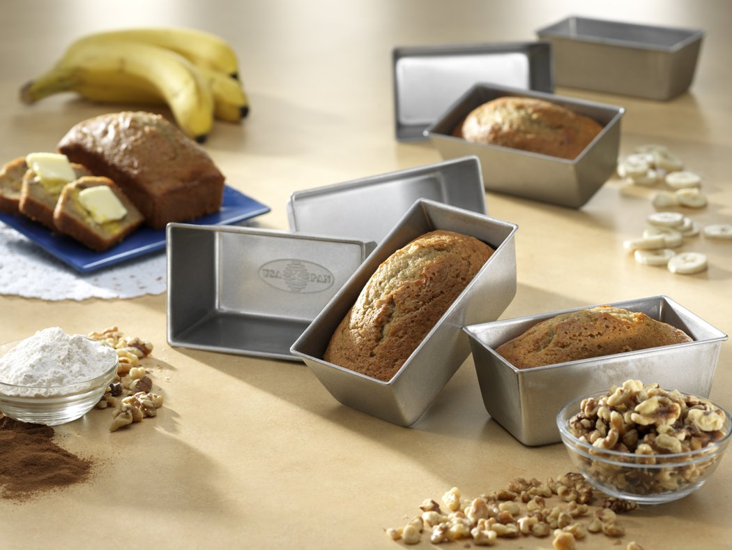 Usa Pan Bakeware Mini Loaf Pan Set Of 4 Nonstick Quick