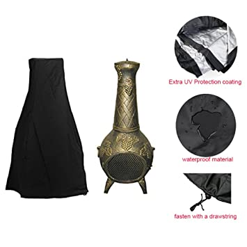 Chiminea Cover   Premium Outdoor Cover With Durable Waterproof 190T  Polyster Material, Outdoor Garden Heater