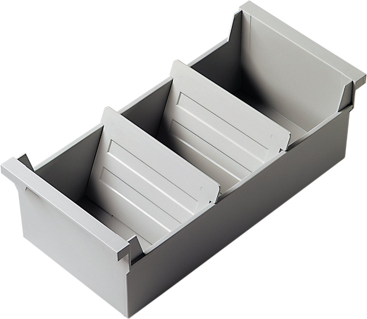 Helit - Archivadores rígidos apilables A6, color gris claro: Amazon.es: Oficina y papelería