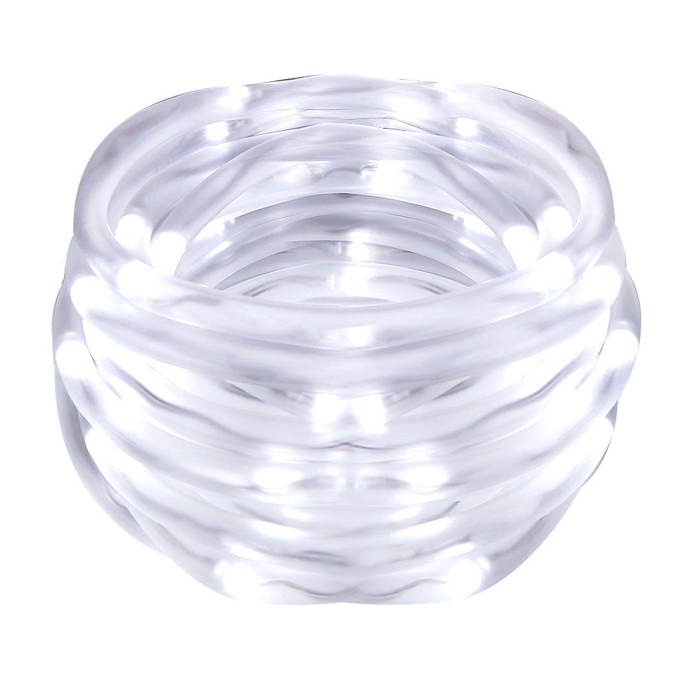 LE Cavo Tubo luminoso LED 5m con Batterie, Impermeabile Bianco Diurno Per esterni, luce decorativa Natale Capodanno 4 Stagioni Lighting EVER