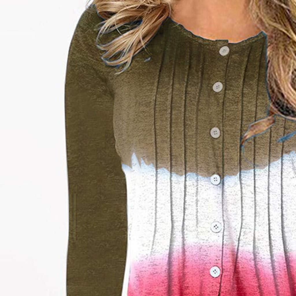 ✦HebeTop✦ Women Long Sleeve Round Neck Sweatshirt Pocket Pullover Loose Tunic Shirts Blouse Tops