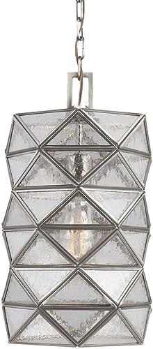 Sea Gull Lighting 6541401-965 One 6541401-965-One Light Pendant, Antique Brushed Nickel