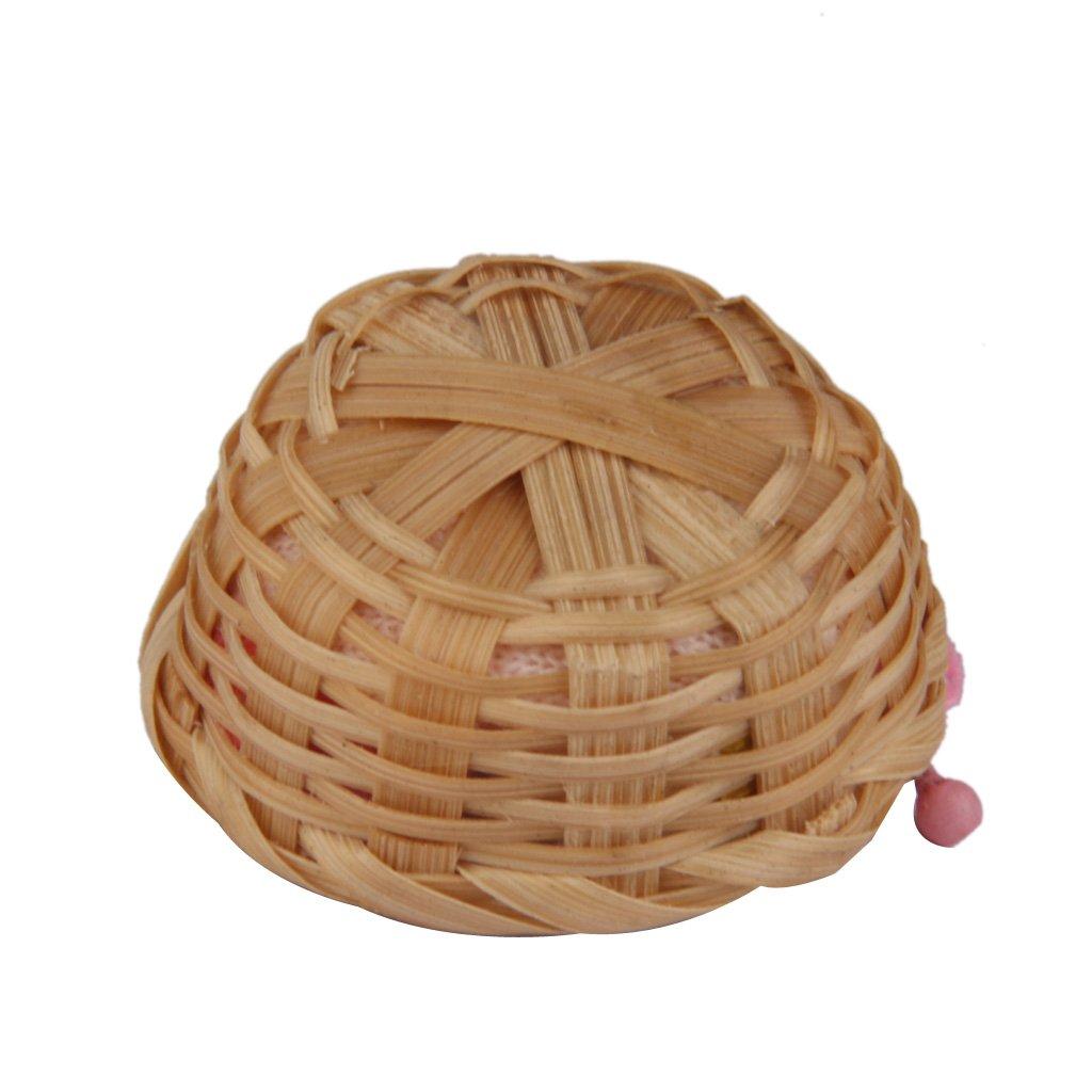 Fenteer Handgemachtes Miniatur Bambuskorb mit Nadeln und Kn/äuel Wolle Yarn f/ür 1:12 Puppenhaus Dekoration