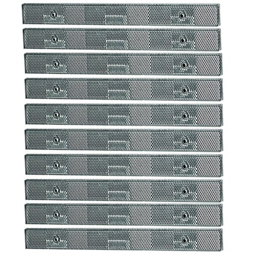 10 Pack of 12 Silver Automotive Reflector Strips Grote #41121