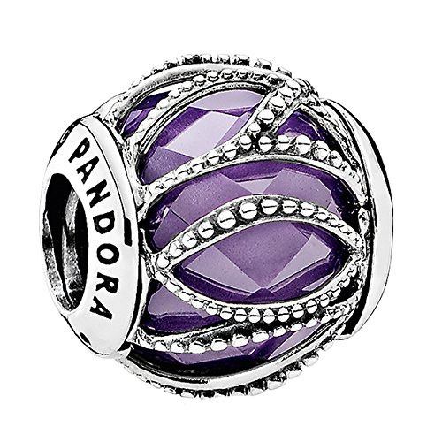 791968ACZ with Ball Charm Pandora Silver with Purple 0EzLhaad