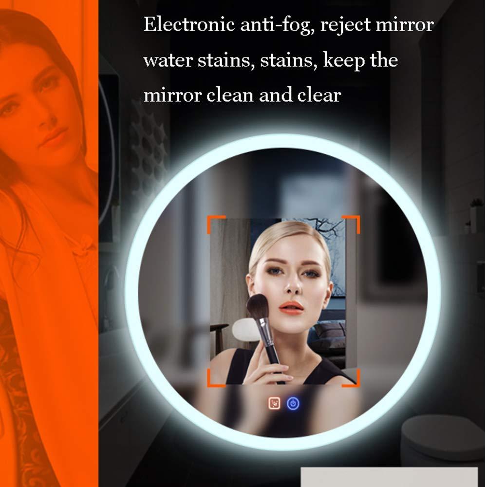 60//70 Cm A Parete Senza Cornice Specchio Moderno Illuminazione LED Specchio Anti-Appannamento Bathroom mirror Specchio da Bagno Rotondo Touch