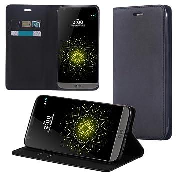 ECENCE Funda para el LG G5 Libro Cover Wallet Case-s Bolsa Negro ...