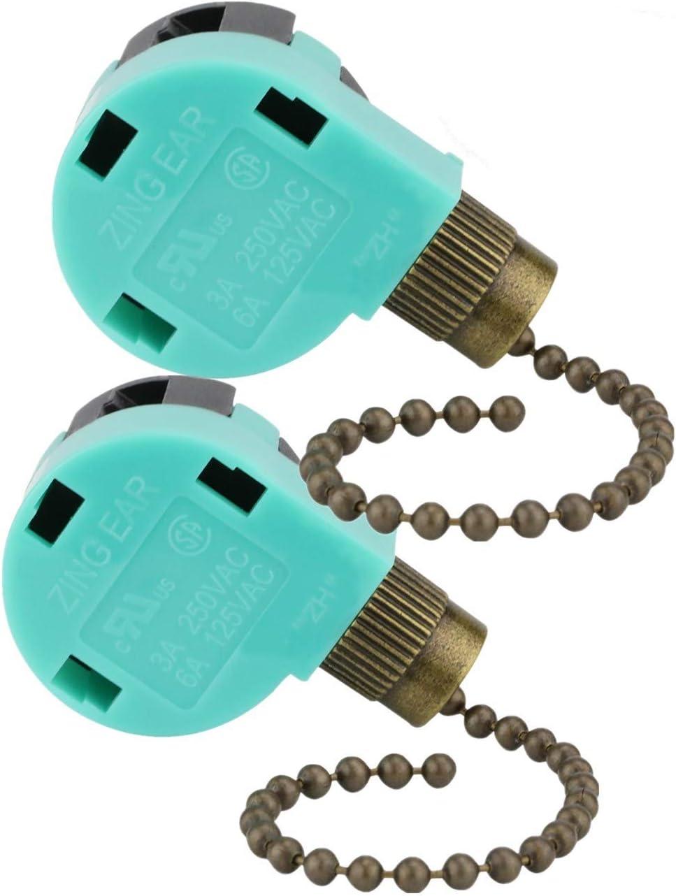 Ceiling Fan Switch Zing Ear Fan Switch ZE-268s6 ZE Fan Control Switch 4 Wire Fan Switch Controls - -