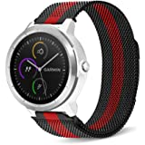 C2D JOY Compatible with Garmin vivoactive 3 (M) & vivomove (HR) Replacement Band with Quick Release Spring Bar, Fashion Watch Band for Daily wear Soft, Breathable Metal Weave - S/M/L
