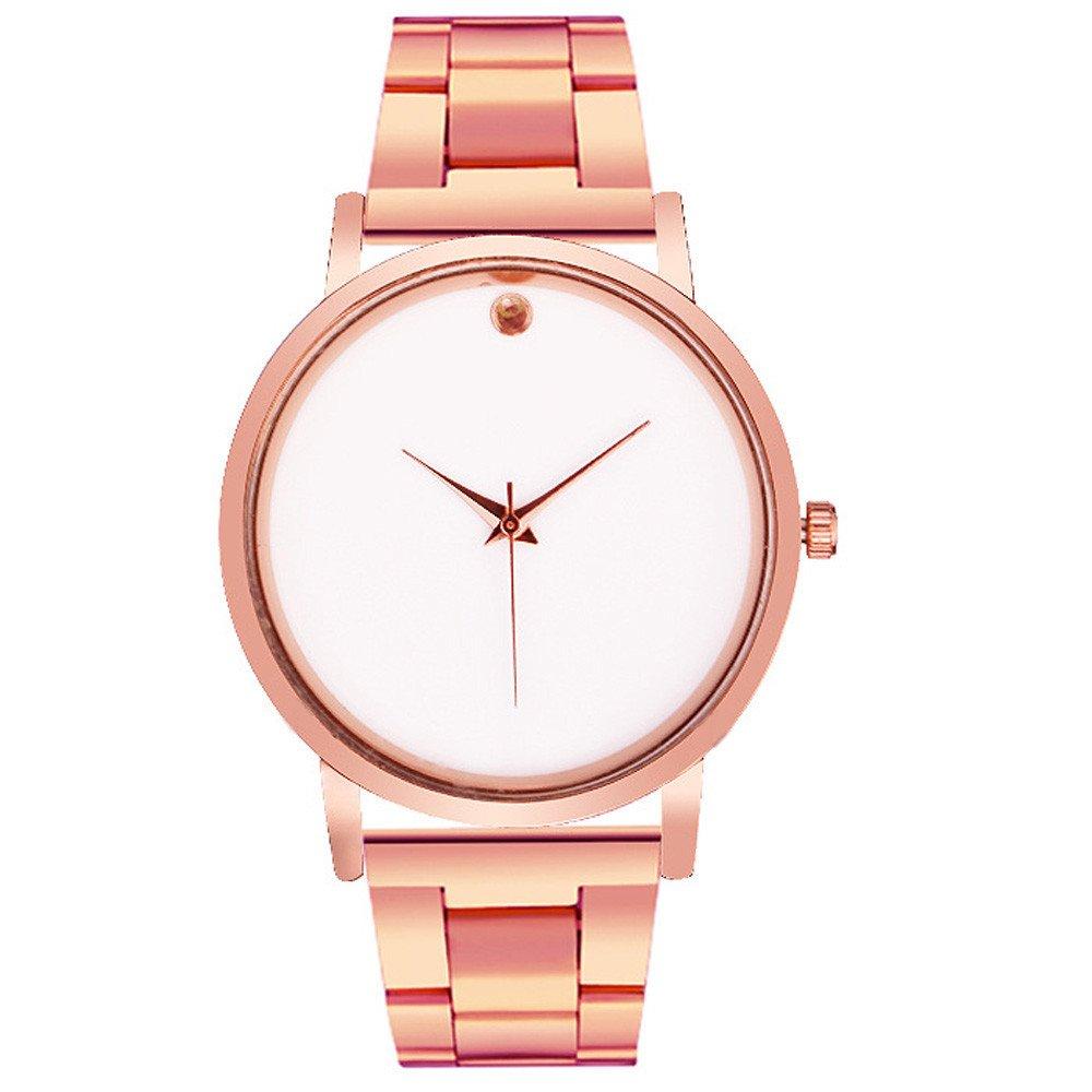Watch,Baomabao Women Wrist Watch Bracelet Crystal Stainless Steel Analog Quartz WH