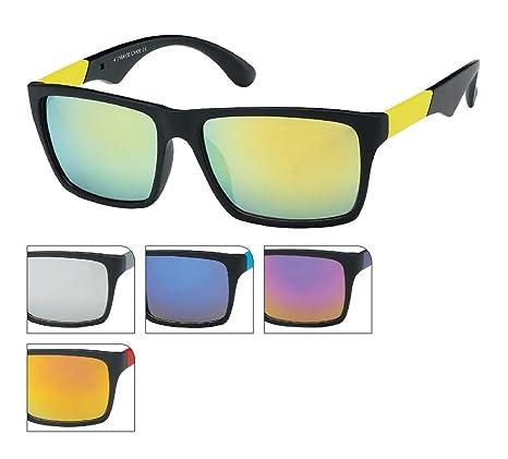 Des lunettes de soleil Wayfarer Cadre 400 UV transparentes sportive rouge Chic-Net coloré miroir SapZ1