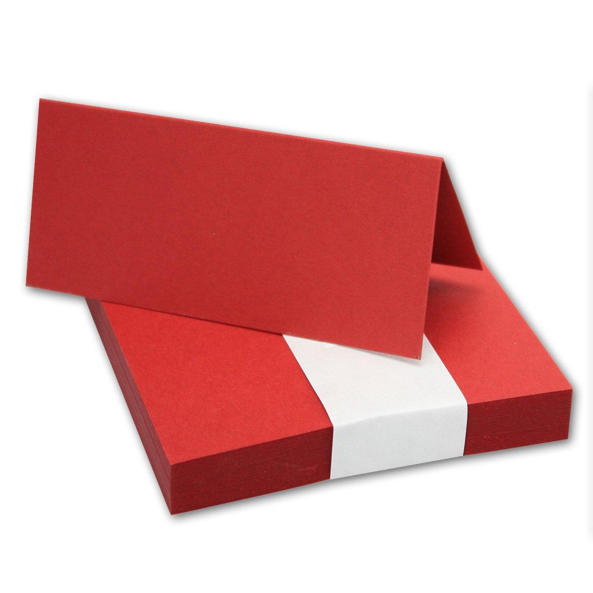 200x Tischkarten in in in Hochweiß I Größe  100 x 90 mm (Gefaltet 100 x 45 mm) I 240 g m² - Sehr Schwere und Stabile Qualität I aus der Serie FarbenFroh von NEUSER  B07FSJPJ6R | Modern Und Elegant In Der Mode  a796b0