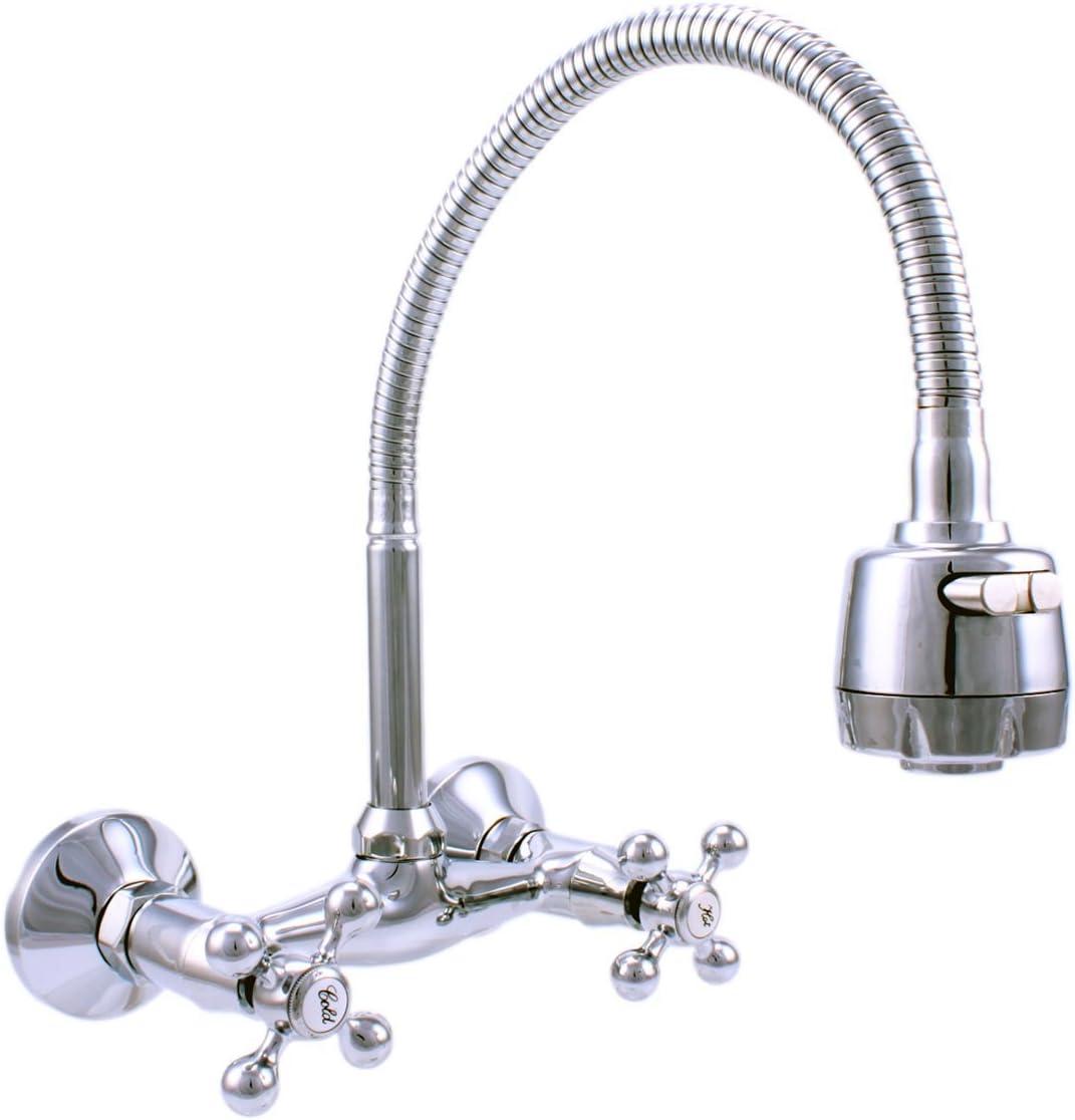 Atco/® Robinet mural robinet d/évier de cuisine robinet mitigeur monocommande cuisine Flexible