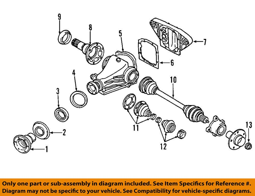 Amazon com: Genuine BMW Rear Axle Outer Drive Shaft CV Boot