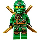 LEGO Ninjago Minifigure - Lloyd Zukin Robe Jungle Green Ninja with Dual Gold Swords (70749)