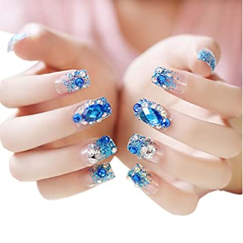 Amazon Stylish Wedding Bridal Nail Jewelry French Nails