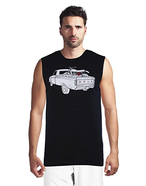 c97da676c88c8 Deus Ex Machina Men s F100 Muscle Tank Top at Amazon Men s Clothing store