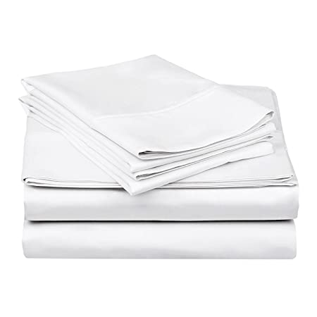 1000TC 100 Percent Egyptian Cotton Bed Sheet Set/ 4 Piece Set/ Flat Fitted