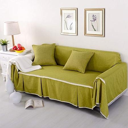 TXDIRECT Fundas para sofás Fundas de Sofa Anti Gatos Sillón reclinable Silla Cubierta Cubierta de sofá Fundas elásticas para sofás Sillón de la Cubierta 215X200,Yellow Green: Amazon.es: Hogar