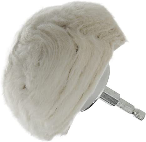 """Cotton Polishing Buff 3/"""" Tapered Cone Head with 6/"""" Shank /& 1//4/"""" Hex End"""