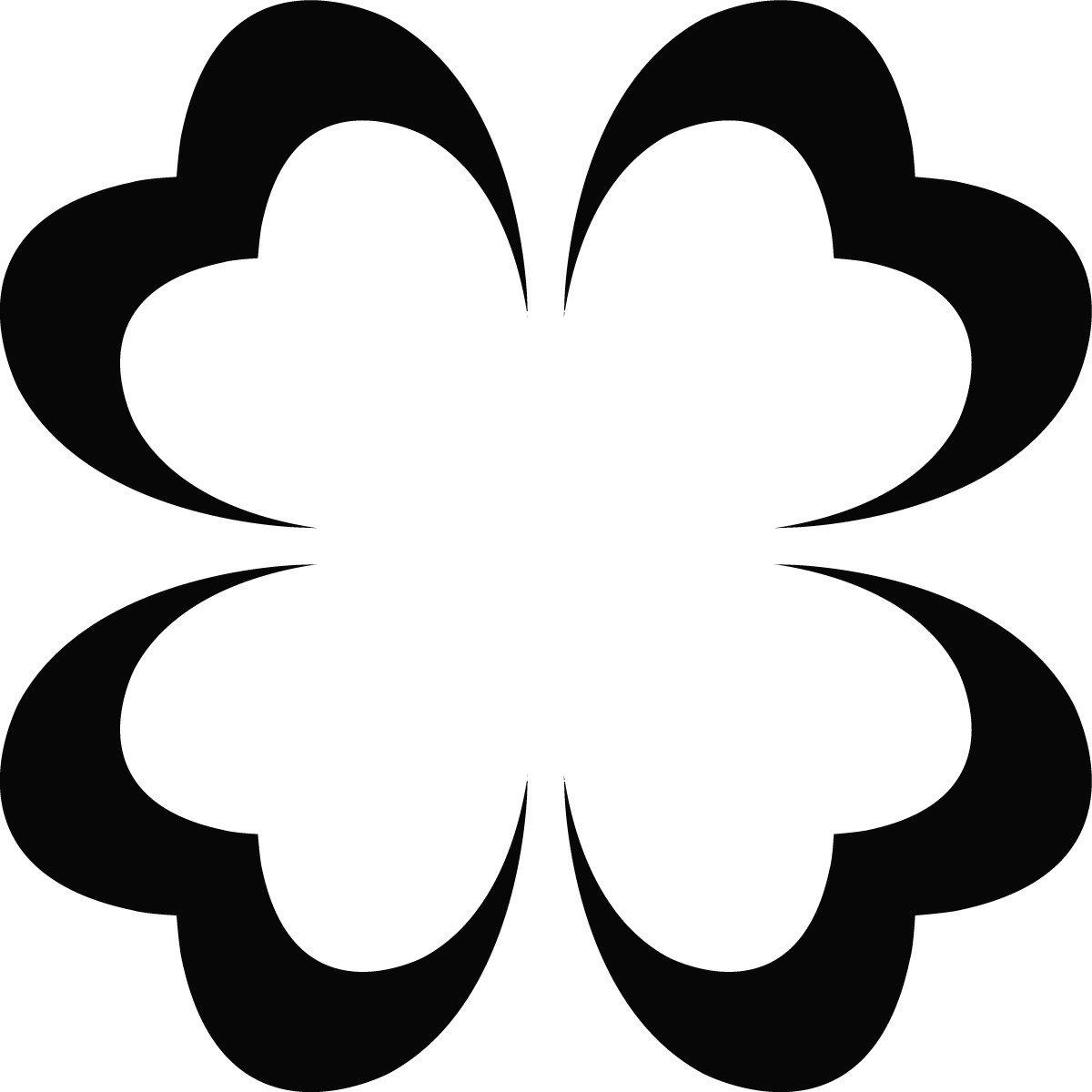 amazon com heart four leaf clover outline wall art sticker 02