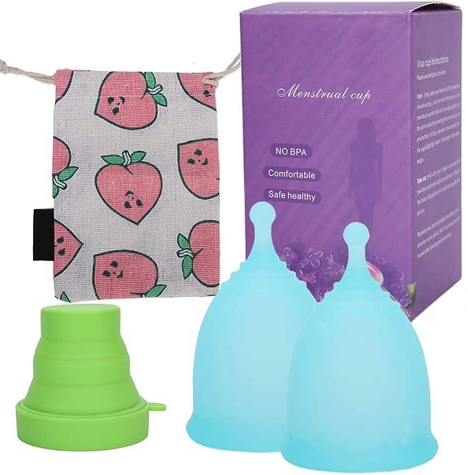 Copa menstrual, silicona reutilizable de grado médico, para sangrado normal a abundante 12 horas de protección. Copa menstrual reutilizable Copa ...