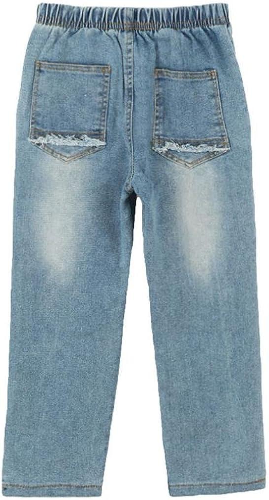 Beb/é invierno leggings elasticos cremallera rotos Denim larga Pantalones ropa,Yannerr ni/ña ni/ño primavera vaqueros tejana bordada Jeans top mono traje