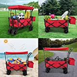 Push and Pull Collapsible Utility Wagon, Heavy Duty
