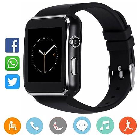 CanMixs CM03 Bluetooth Smart Watch Pulsera deportiva Soporte de SIM y tarjeta TF con cámara Sincronización