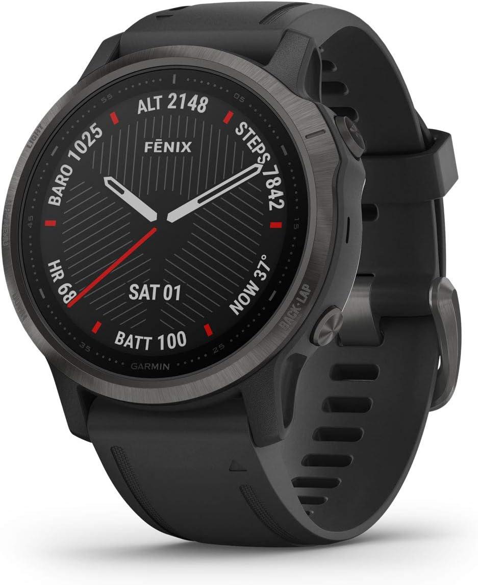 Garmin - Reloj GPS con Pulsómetro Fenix 6S Zafiro Garmin