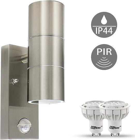 Parete Led Lampada-illuminazione esterna sensore rilevatore di movimento Acciaio inox Lampada Casa
