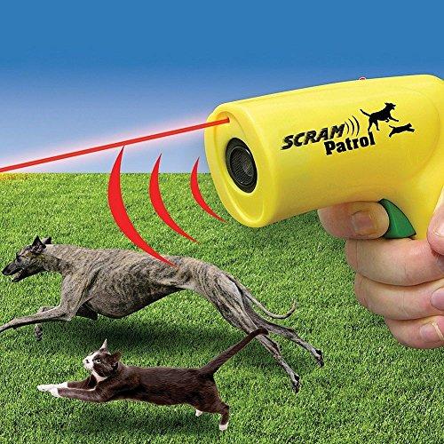 CBK Scram Patrol Ultrasonic Dog Repeller Chaser Stop Barking Attack Animal Protecton (Yellow)