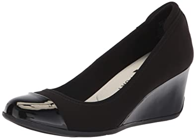 4a2d429047 Anne Klein AK Sport Women's Taite Wedge Pump, Black, ...
