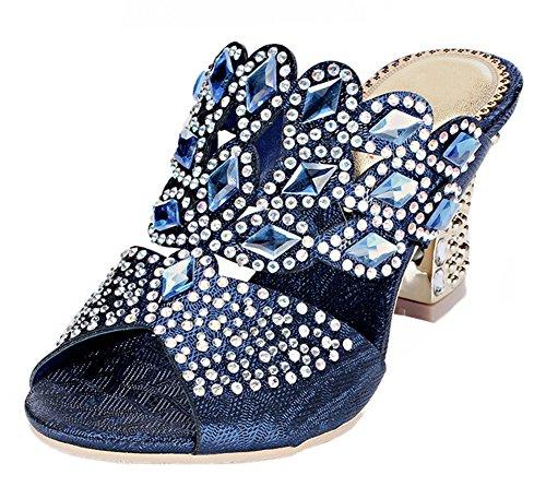 honeystore-womens-handmade-rhombus-rhinestone-chunky-heel-sandals