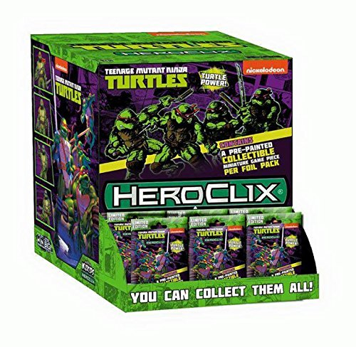WizKids Teenage Mutant Ninja Turtles HeroClix: Gravity Feed Display (24 Booster Packs) -