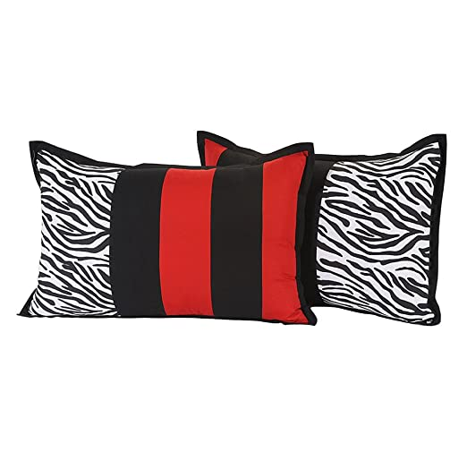 Yuga la decoración del hogar funda de cojín rojo y negro de ...