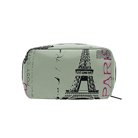 58620e3759ac Amazon.com : FAJRO Eiffel Tower Post Card cosmetic bag organizer ...