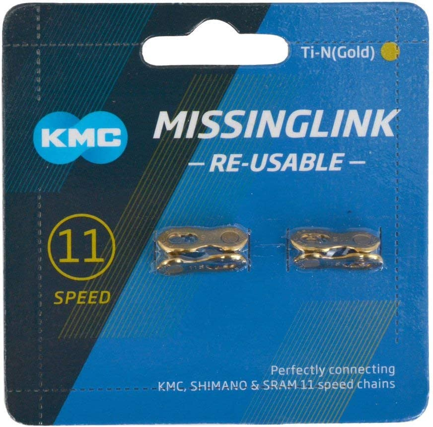Gold Re-Usable New KMC missing link for 9 speeds