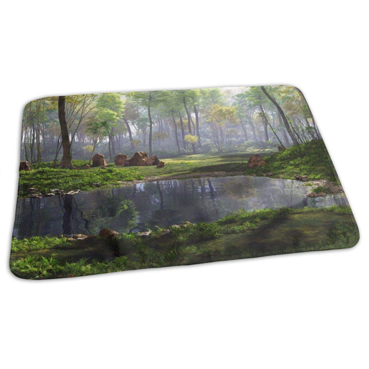 Osvbs Lovely Baby Reusable Waterproof Portable 3D Rendering of A Fantasy Forest Landscape Changing Pad Home Travel 27.5''x19.7'' by Osvbs