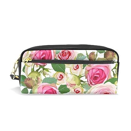 Estuche para lápices con diseño de rosas de acuarela vintage ...