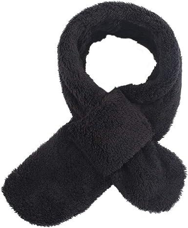 Black Kid Scarf Fleece Winter Autumn Scarf Boys Girls Soft Velet Neck Warmer for 1-7T