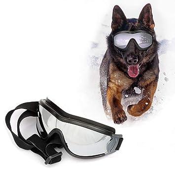 SymbolLife Gafas de Sol para Perros Perro Gafas para Perros Grandes y Medianos Impermeable Protector Ocular Protección UV Antivaho Ajustable
