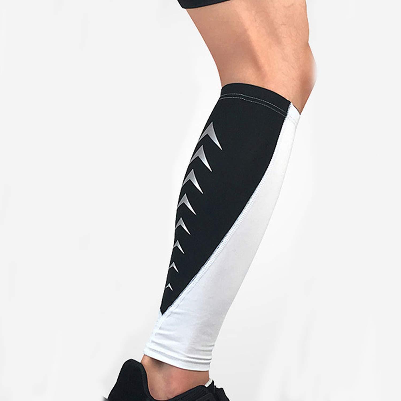 13902b6276 Amazon.com: 1PCS Unisex Sports Compression Knee Leg Calf Support Stretch Brace  Shin Guard Sleeve Protector Wrap,White,XL: Health & Personal Care